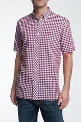 Fred Perry Tricolor Gingham Short Sleeve Sport Shirt - Lyst