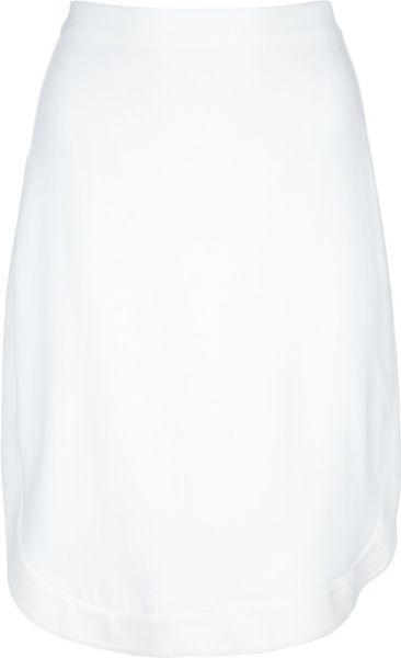 Givenchy Gonna Cadi Skirt in White - Lyst