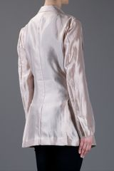 Haider Ackermann Long Jacket in Beige (nude) - Lyst
