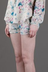 Iro Maurine Shorts in Beige (cream) - Lyst