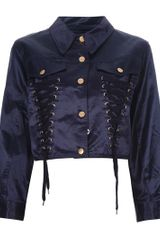 Jean Paul Gaultier Cropped Jacket - Lyst