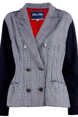 Jean Paul Gaultier Print Jacket in Gray (grey) - Lyst