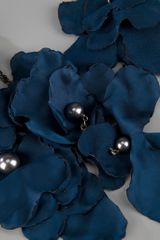 Lanvin Flower Necklace in Blue - Lyst
