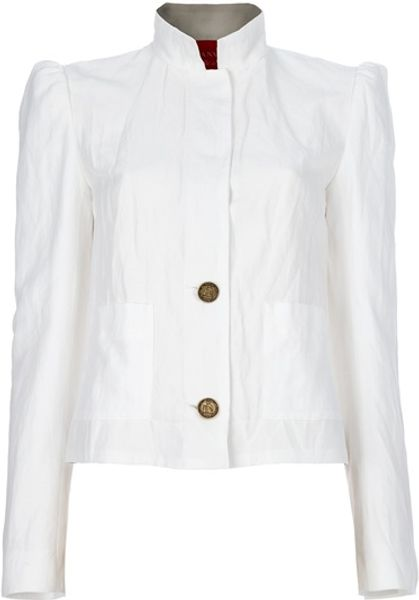 Lanvin Short Jacket in White - Lyst