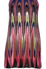 M Missoni Patterned Mini Dress in Multicolor (pink) - Lyst