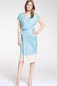 Maggy London Colorblock Faux Wrap Dress - Lyst