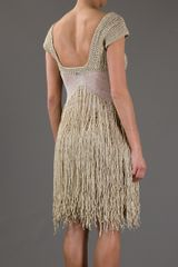 Mark Fast Sandstorm Crochet Dress in Beige (cream) - Lyst