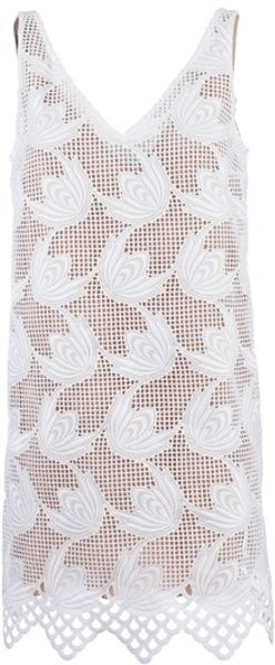 Marni Embroidered Sleeveless Dress - Lyst
