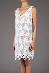 Marni Embroidered Sleeveless Dress in White - Lyst