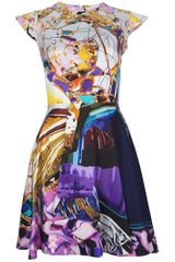Mary Katrantzou Babelona Cap Sleeve Dress in Multicolor (multi) - Lyst