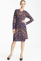 Missoni Long Zigzag Knit Cardigan - Lyst