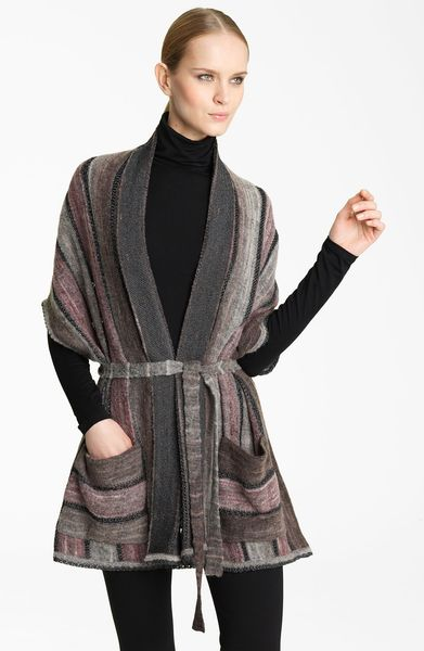 Missoni Drape Cardigan in Purple (purple grey) - Lyst