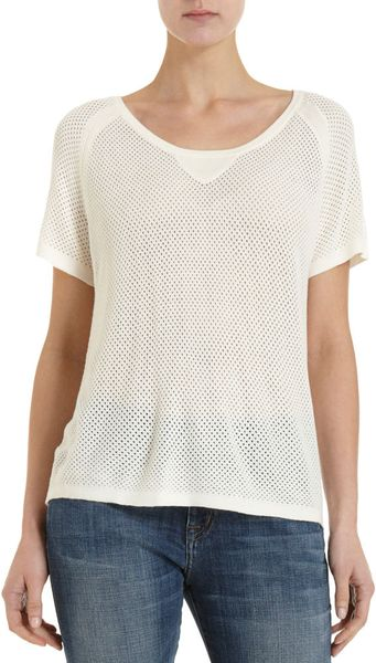 Rag & Bone Beach Tee in Beige - Lyst