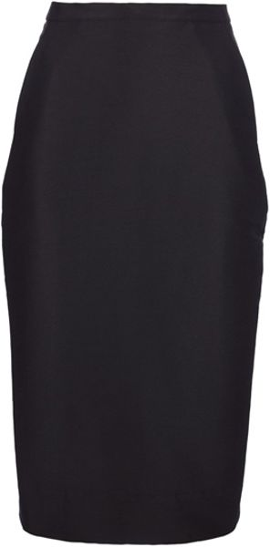Rick Owens Pencil Skirt in Black - Lyst