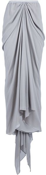Rick Owens Fishtail Skirt in Gray (pearl) - Lyst