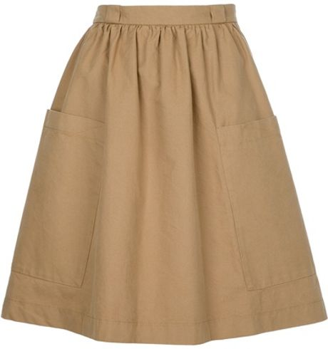 See By Chloé High Waist Skirt in Beige - Lyst