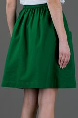 See By Chloé High Waist Skirt in Green - Lyst