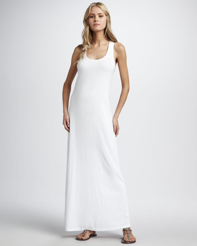 369349b947d Splendid Sleeveless Tank Maxi Dress in White - Lyst