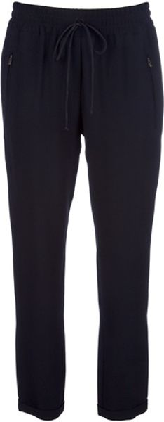 Stella Mccartney Cropped Trouser in Black - Lyst