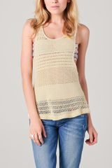 Textile Elizabeth And James Catalina Top in Beige (chalk) - Lyst