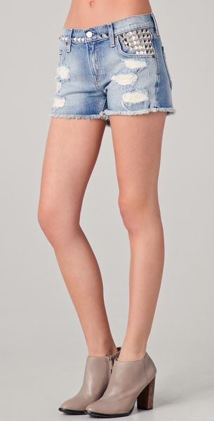 Textile Elizabeth And James Studded Ruby Shorts - Lyst