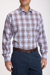 Thomas Dean Plaid Sport Shirt - Lyst