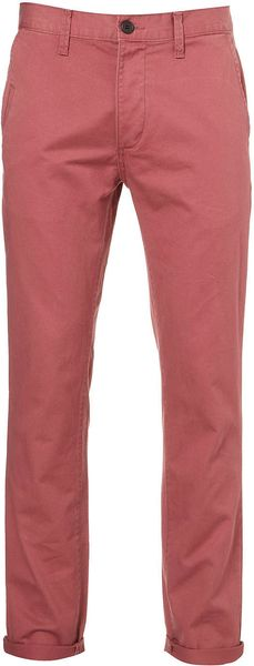 Topman Washed Pink Skinny Chinos in Pink for Men - Lyst