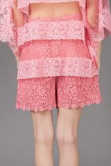 Valentino High Waist Short in Pink - Lyst