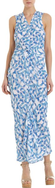 Wayne Rope Print Top in Blue (white) - Lyst