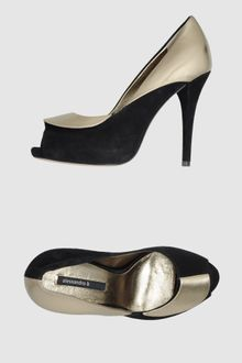 Alessandro B Pumps with Open Toe - Lyst