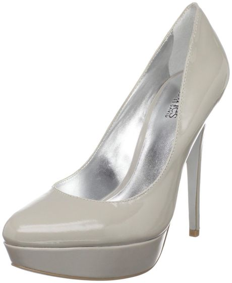 Charles By Charles David Pure Platform Pump in Gray (light grey) - Lyst
