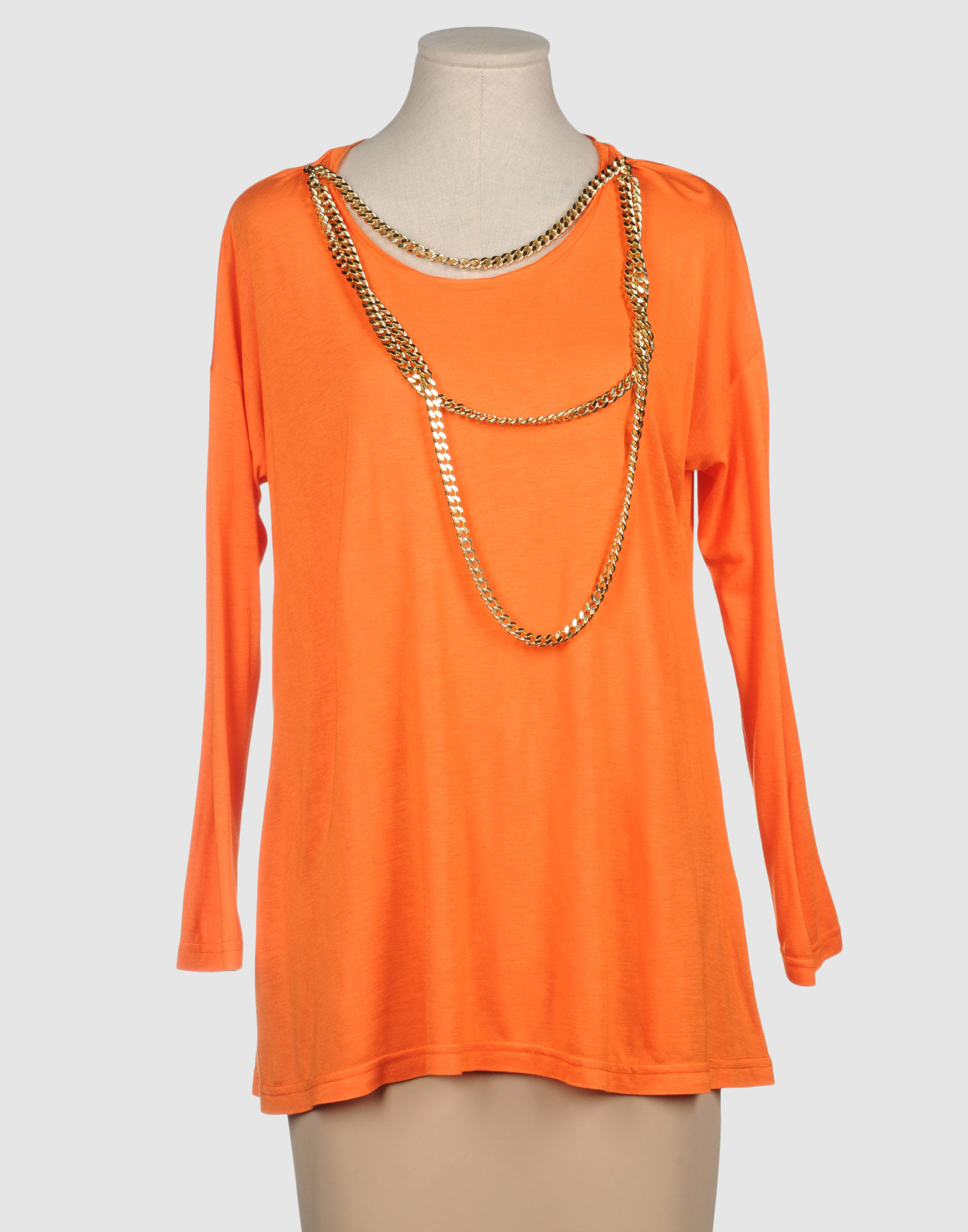 Charlott Long Sleeve T Shirt In Orange Yellow Lyst