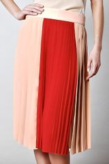 Chloé Pleated Silk Chiffon Skirt - Lyst