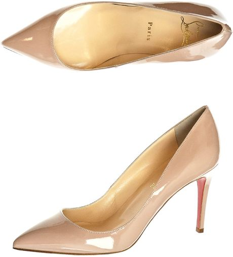Christian Louboutin Pigalle 85mm Shoes in Beige (nude) - Lyst