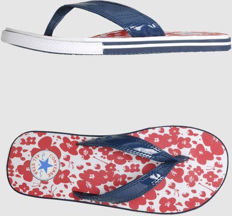 Converse Converse All Star Flip Flops In Gray Slate Lyst