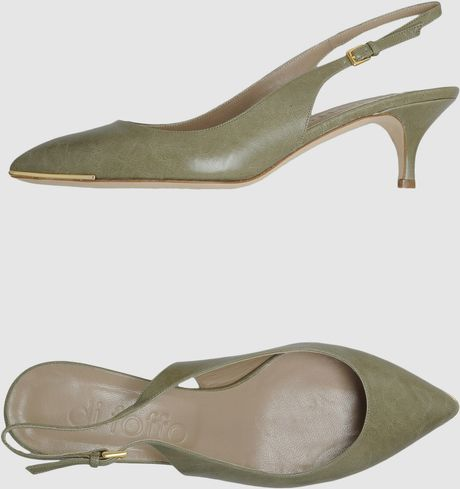 Di Foffo Slingbacks in Green (khaki) - Lyst