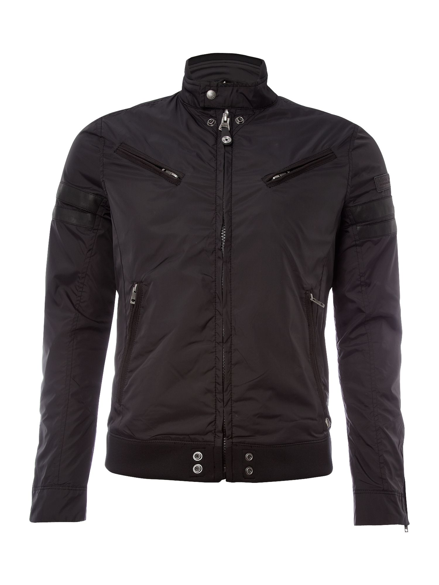 diesel mens casual jacket in black for men lyst