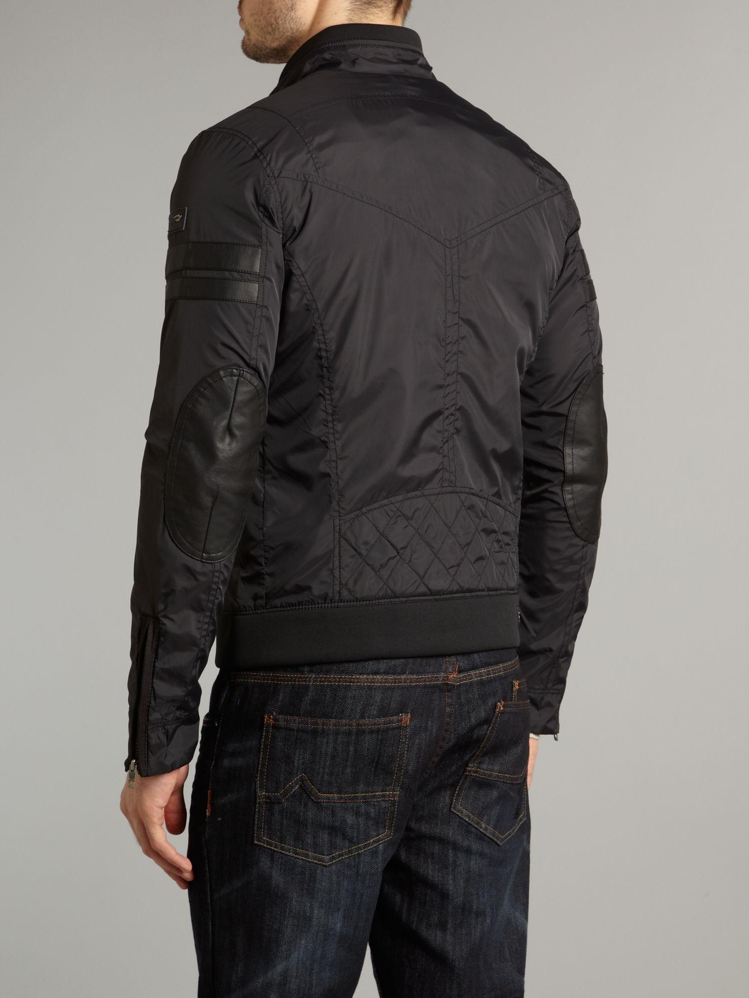lyst diesel mens casual jacket in black for men