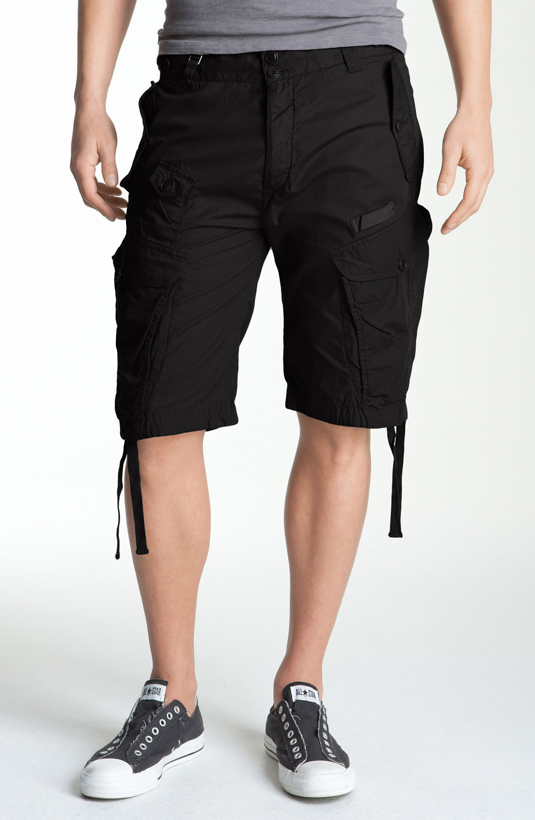 diesel sislargo cargo shorts in black for men lyst