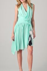 Doo. Ri Dress with Asymmetrical Pleated Skirt - Lyst