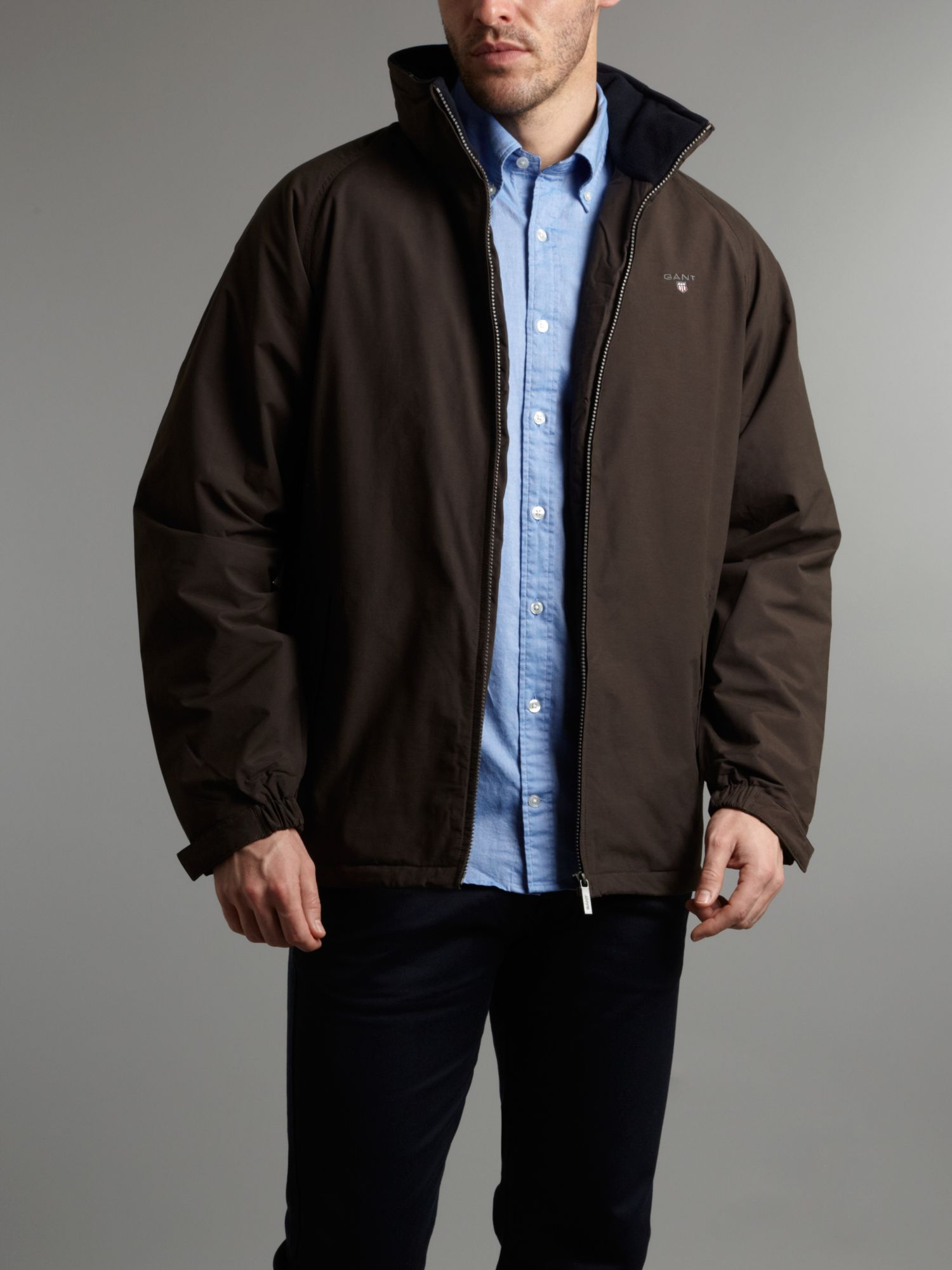 Gant Midlength Jacket In Brown For Men Lyst