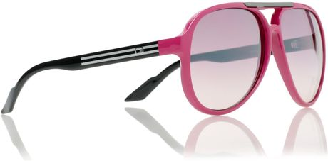 Gucci Sunglasses in Pink for Men (black) - Lyst