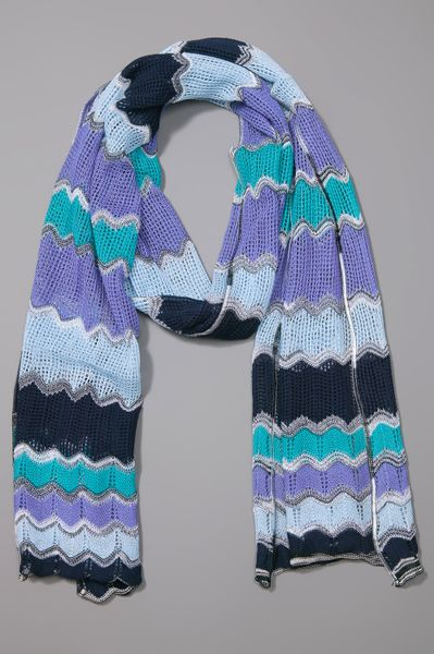 Missoni Scarf in Purple - Lyst