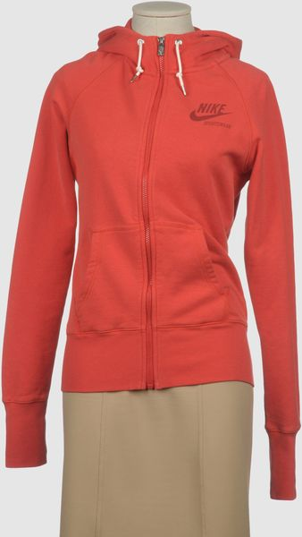 Nike Hooded Sweatshirt in Orange (blue) - Lyst
