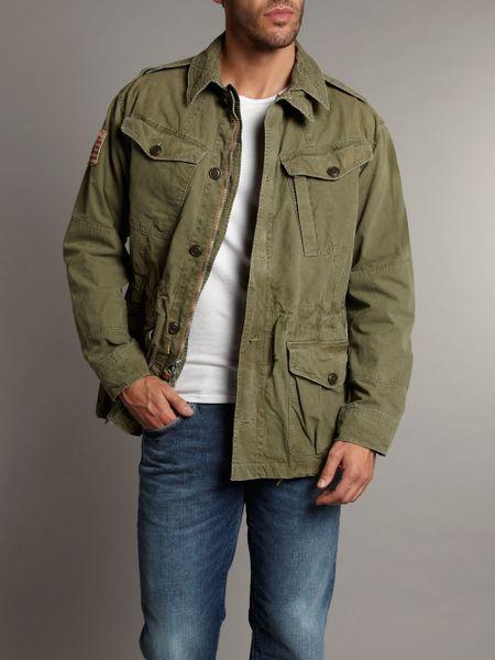 Polo Ralph Lauren Military Combat Jacket In Khaki For Men