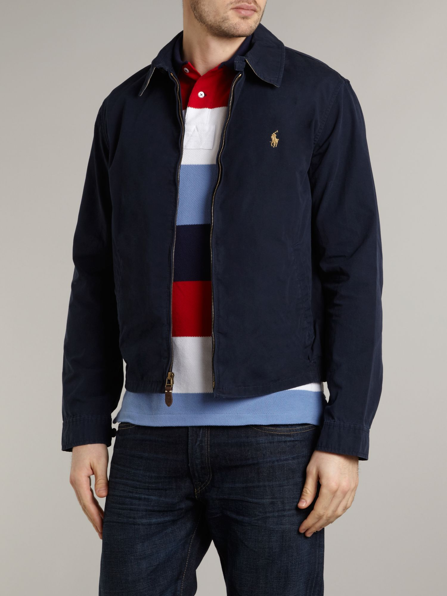 Polo Ralph Lauren Cotton Windbreaker Jacket In Blue For