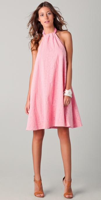 See by chloé Bubble Burnout Halter Dress in Pink | Lyst