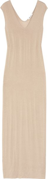 T By Alexander Wang Jersey Maxi Dress in Beige (taupe) - Lyst