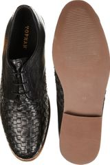 Topman Spartan Weave Gibson Shoes in Black for Men - Lyst