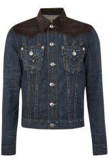 True Religion Cord Jacket in Blue for Men (brown) - Lyst